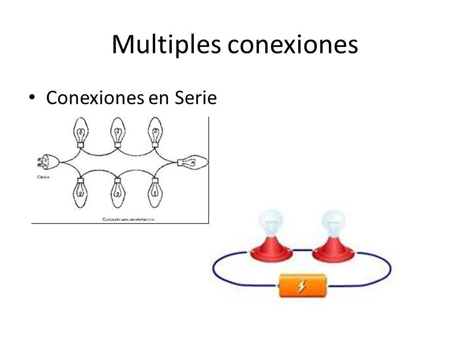 Multiples conexiones Conexiones en Serie