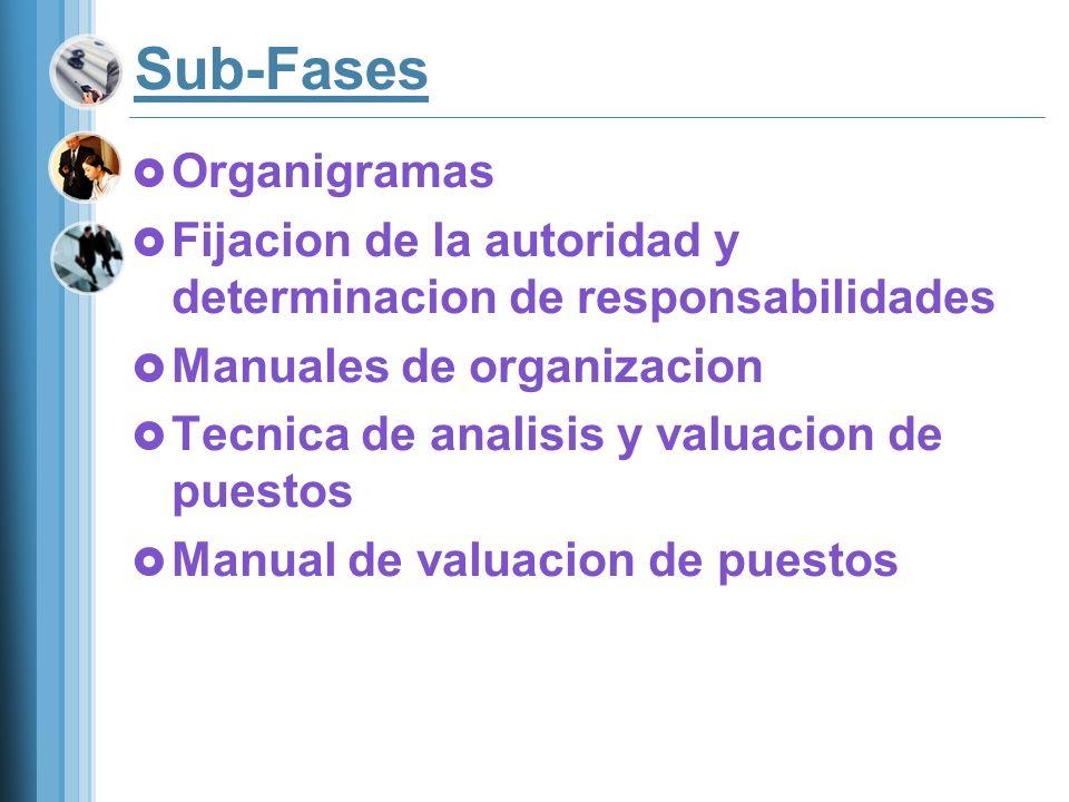 Sub-Fases Organigramas