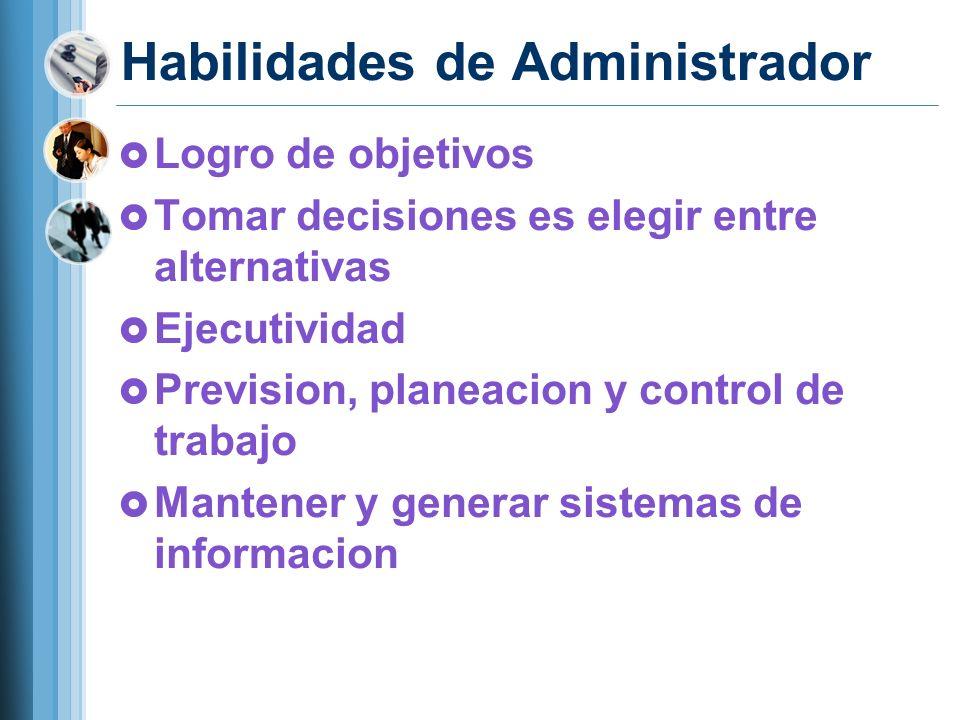Habilidades de Administrador