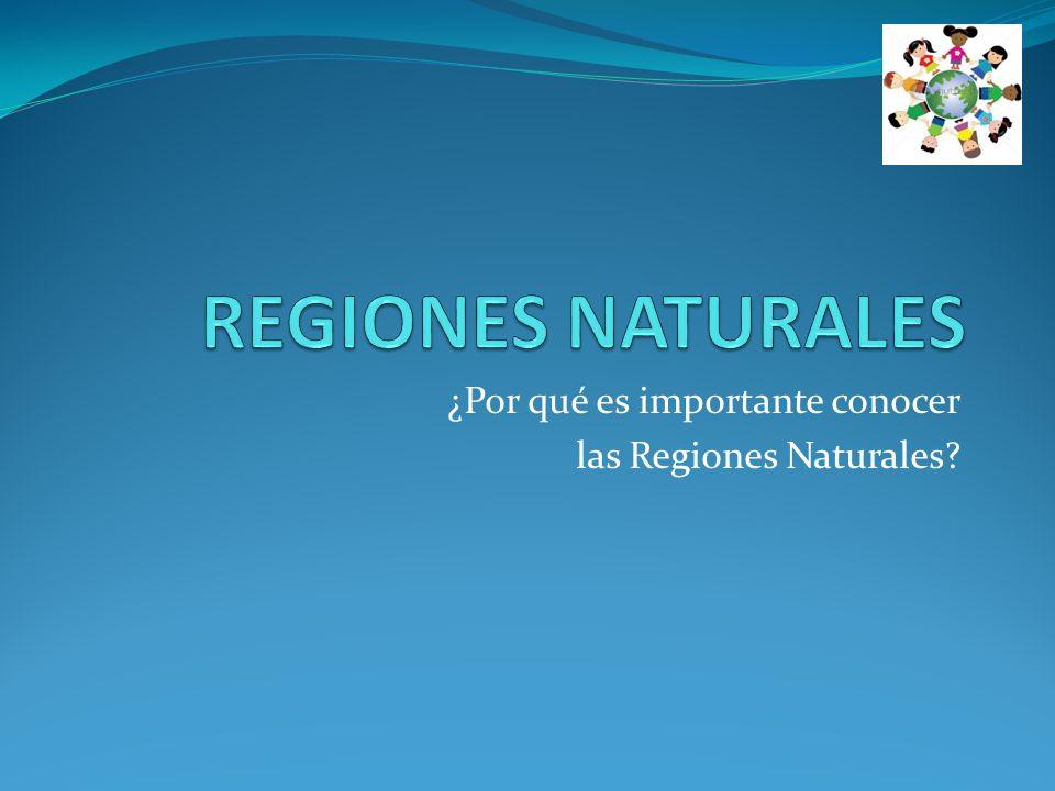 ¿Por qué es importante conocer las Regiones Naturales