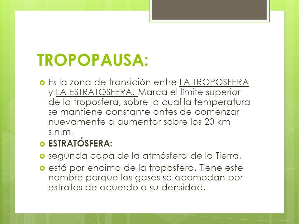 TROPOPAUSA: