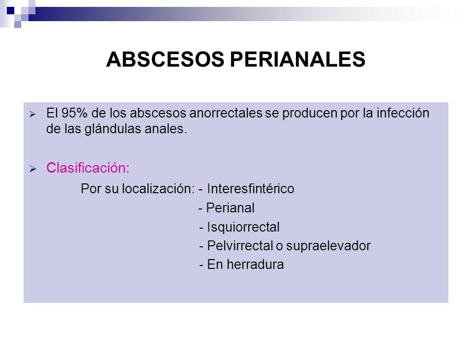 ABSCESOS PERIANALES Clasificación: