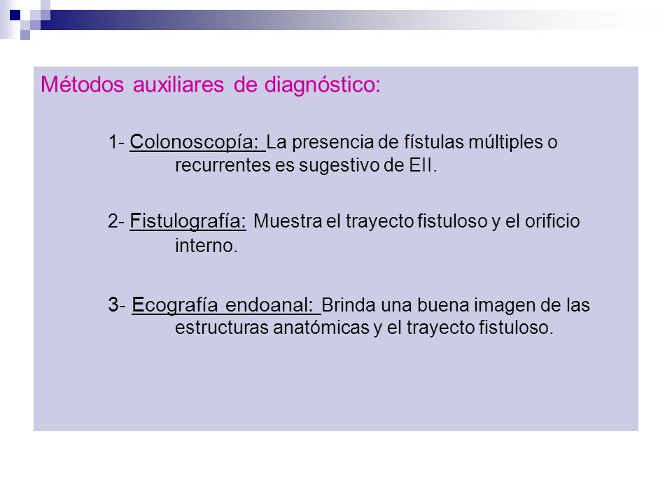 Métodos auxiliares de diagnóstico: