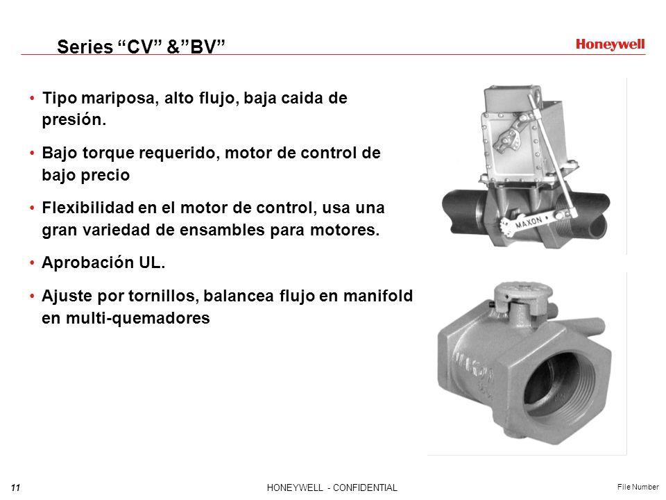 Series CV & BV Tipo mariposa, alto flujo, baja caida de presión.