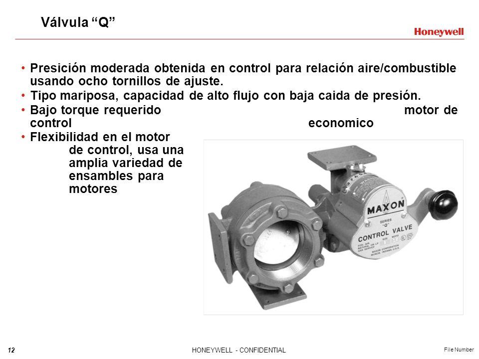 Válvula Q Presición moderada obtenida en control para relación aire/combustible usando ocho tornillos de ajuste.