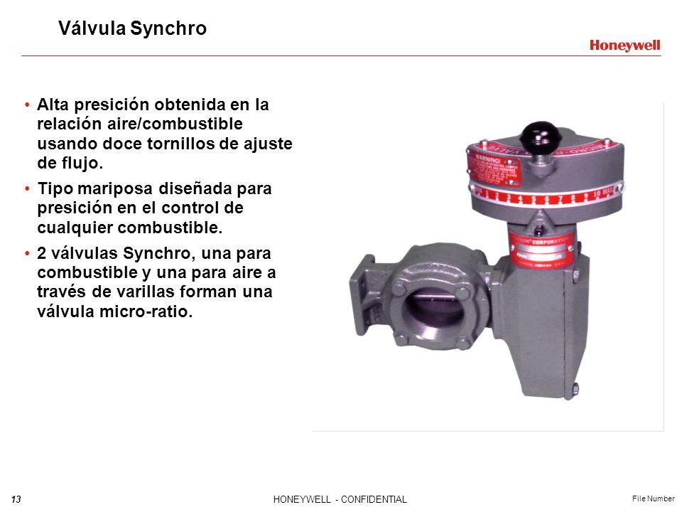 Válvula Synchro Alta presición obtenida en la relación aire/combustible usando doce tornillos de ajuste de flujo.