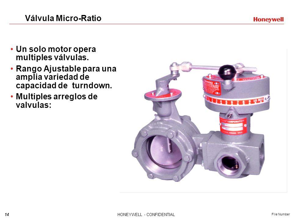 Válvula Micro-Ratio Un solo motor opera multiples válvulas. Rango Ajustable para una amplia variedad de capacidad de turndown.