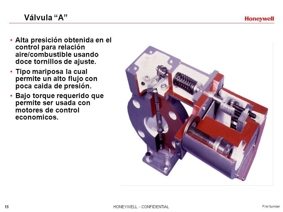 Válvula A Alta presición obtenida en el control para relación aire/combustible usando doce tornillos de ajuste.