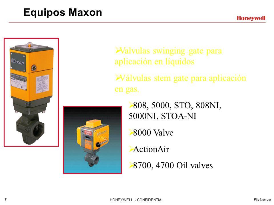 Equipos Maxon Valvulas swinging gate para aplicación en líquidos