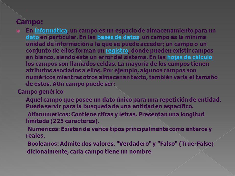 . Campo: