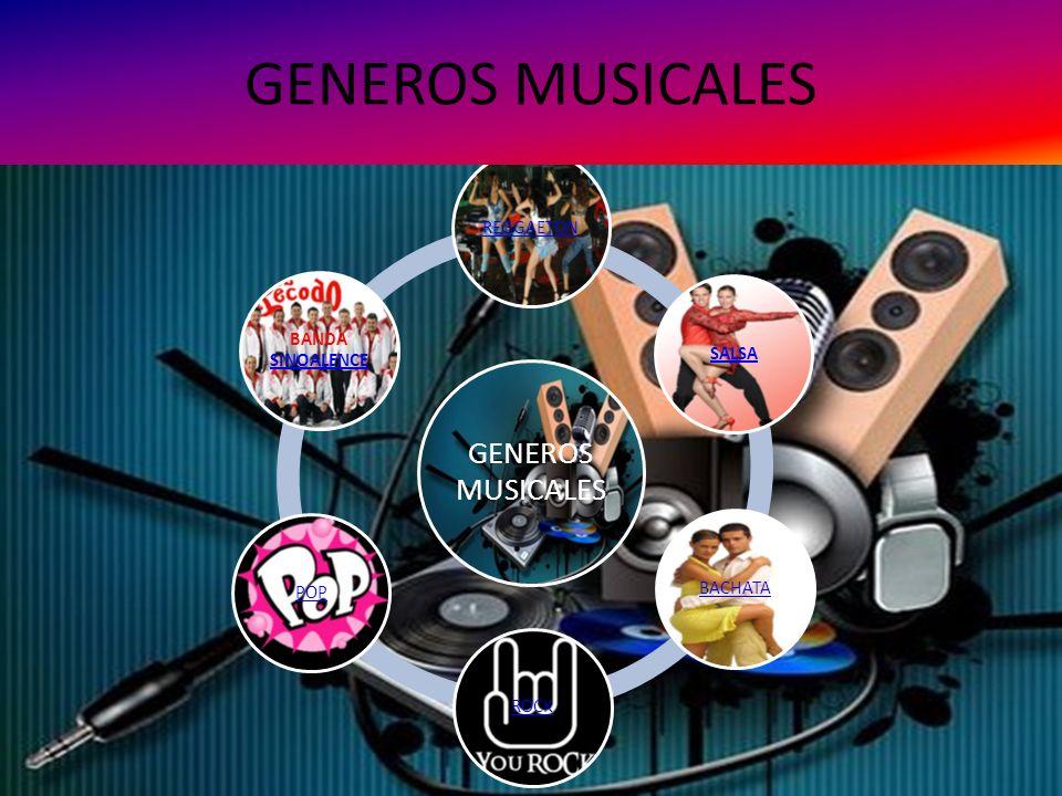 GENEROS MUSICALES GENEROS MUSICALES REGGAETON SALSA BACHATA ROCK POP