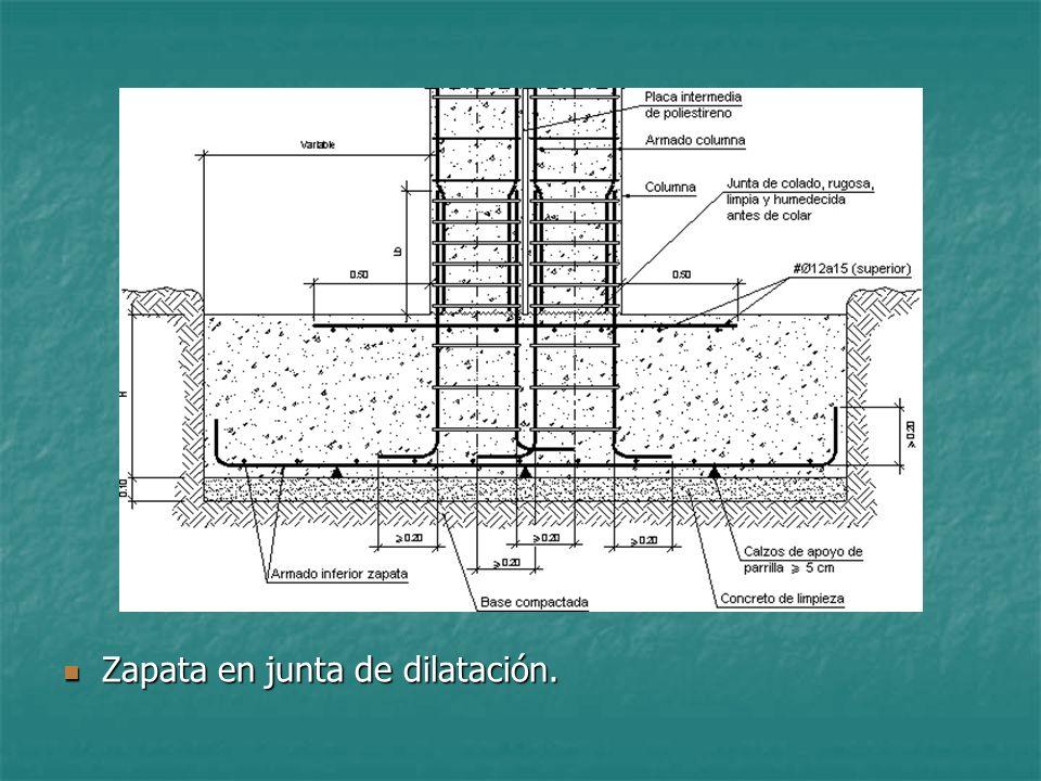 Bloque tematico 1 unidad tematica 3 leccion 7 zapatas for Junta constructiva
