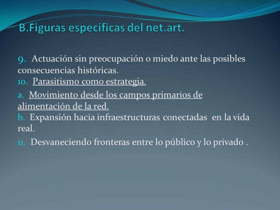 B.Figuras específicas del net.art.