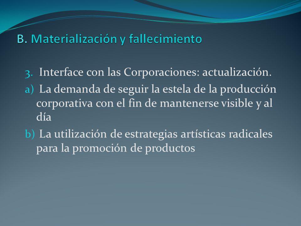 B. Materialización y fallecimiento