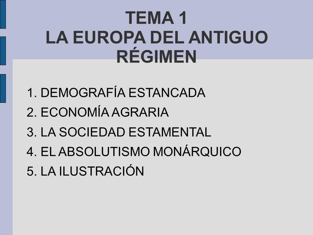 TEMA 1 LA EUROPA DEL ANTIGUO RÉGIMEN