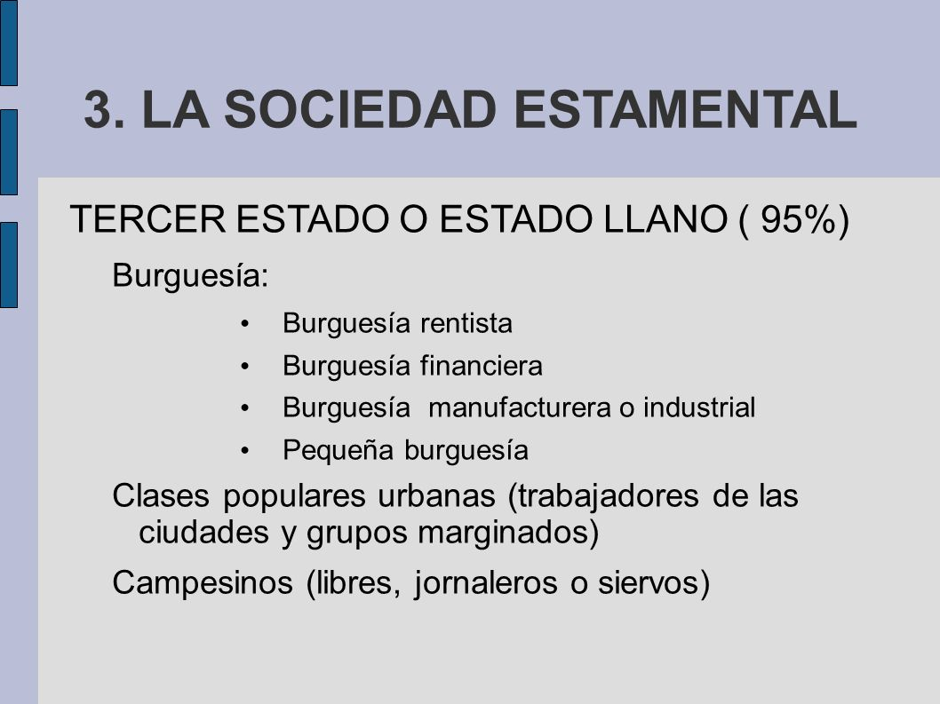 3. LA SOCIEDAD ESTAMENTAL