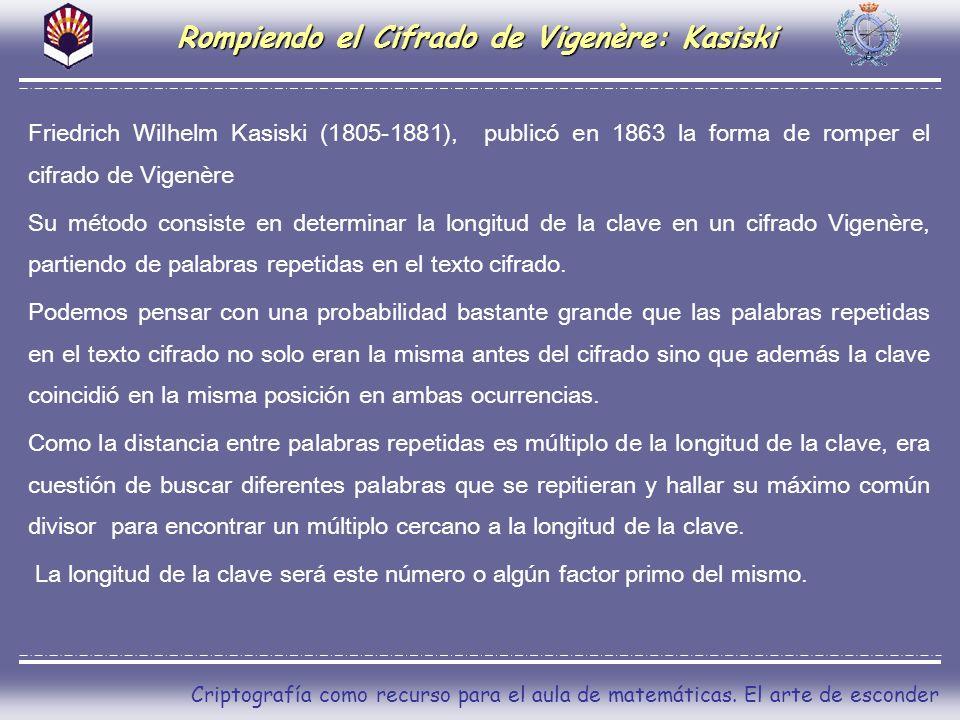 Rompiendo el Cifrado de Vigenère: Kasiski