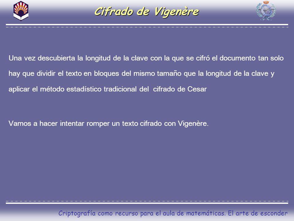 Cifrado de Vigenère