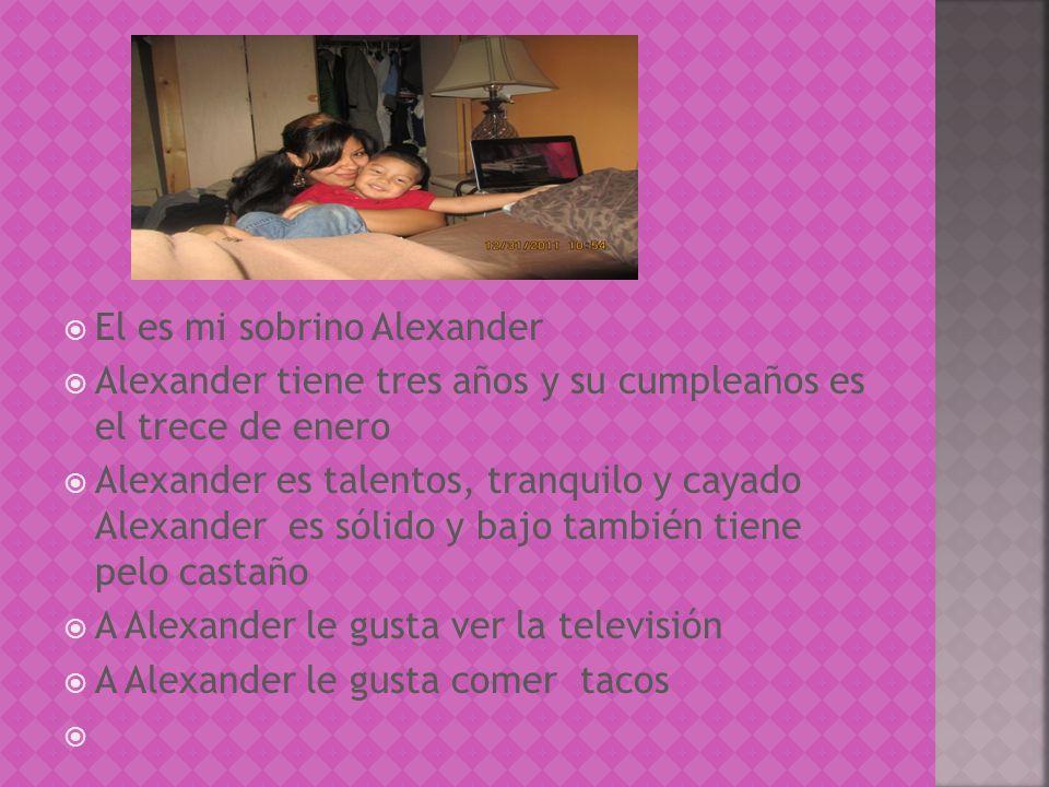 El es mi sobrino Alexander