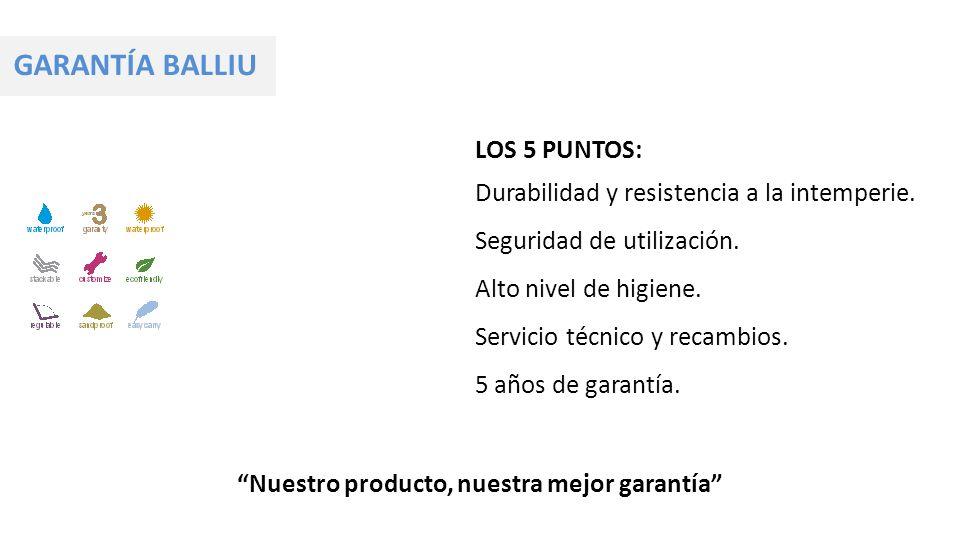 Nuestro producto, nuestra mejor garantía