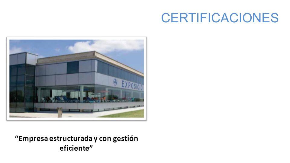 Empresa estructurada y con gestión eficiente