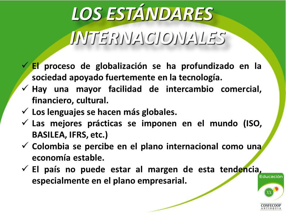 LOS ESTÁNDARES INTERNACIONALES