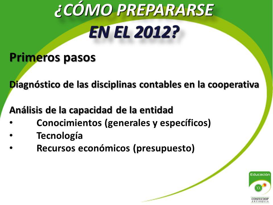 ¿CÓMO PREPARARSE EN EL 2012 Primeros pasos