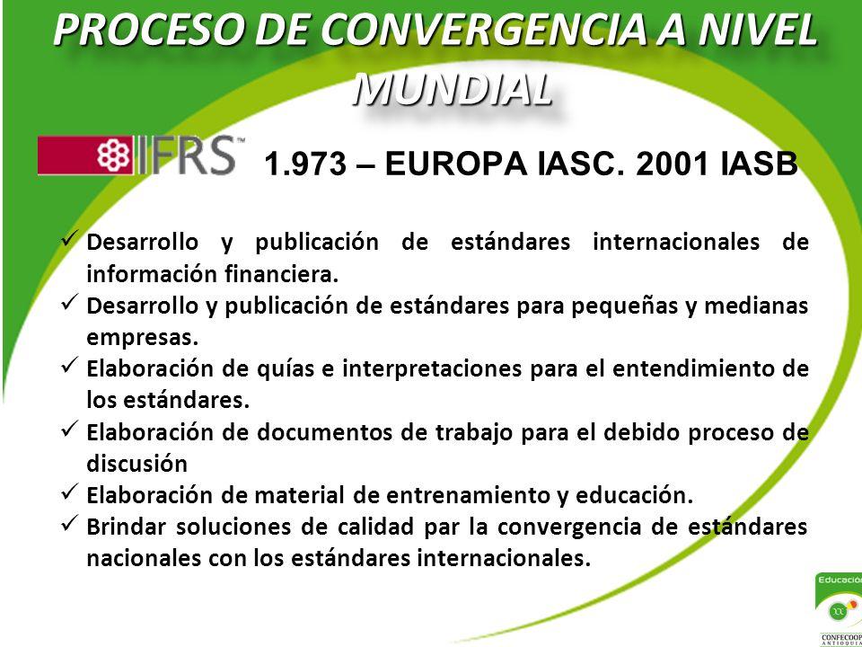 PROCESO DE CONVERGENCIA A NIVEL MUNDIAL