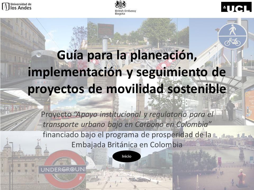 Guía para la planeación, implementación y seguimiento de proyectos de movilidad sostenible