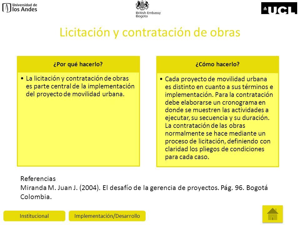 Licitación y contratación de obras