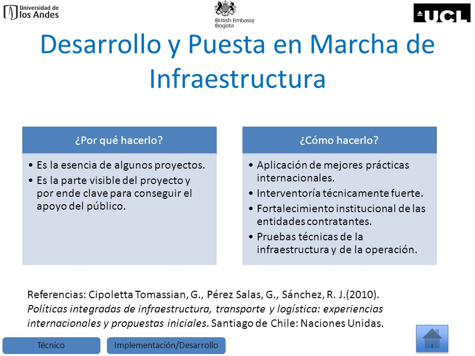 Desarrollo y Puesta en Marcha de Infraestructura