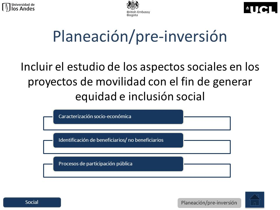 Planeación/pre-inversión