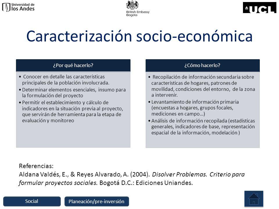 Caracterización socio-económica