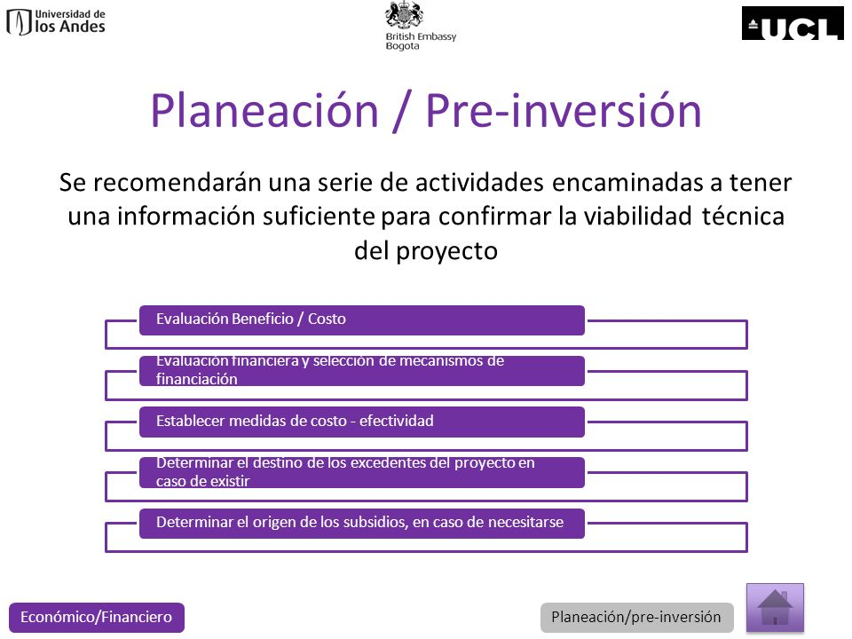 Planeación / Pre-inversión
