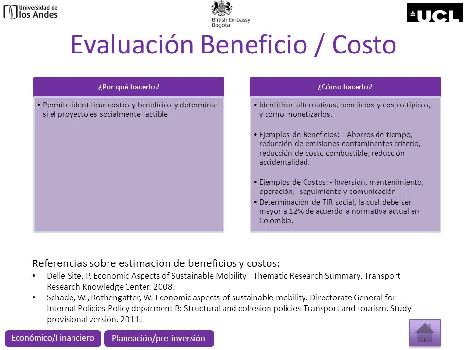 Evaluación Beneficio / Costo