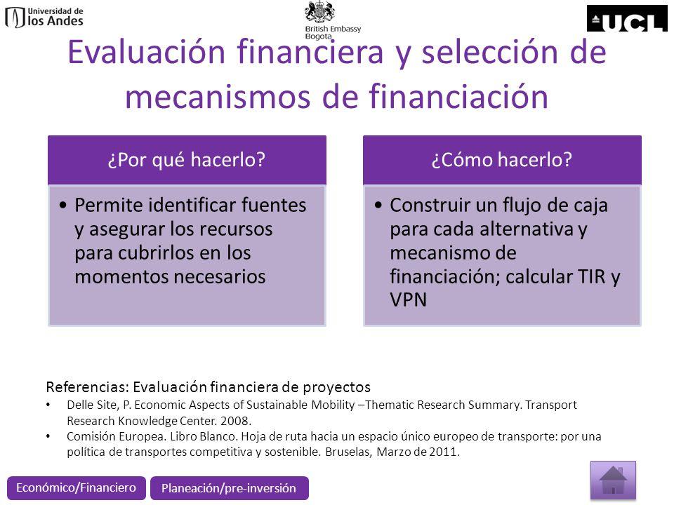 Evaluación financiera y selección de mecanismos de financiación