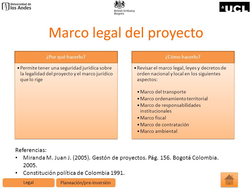 Marco legal del proyecto