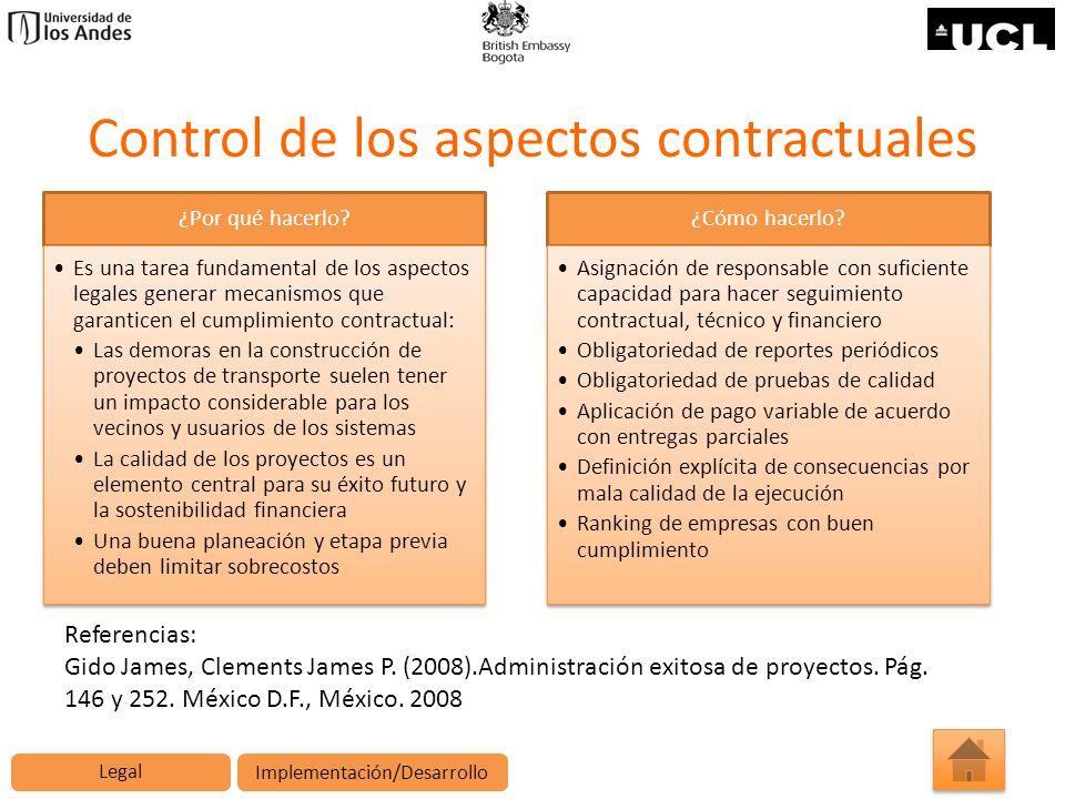 Control de los aspectos contractuales