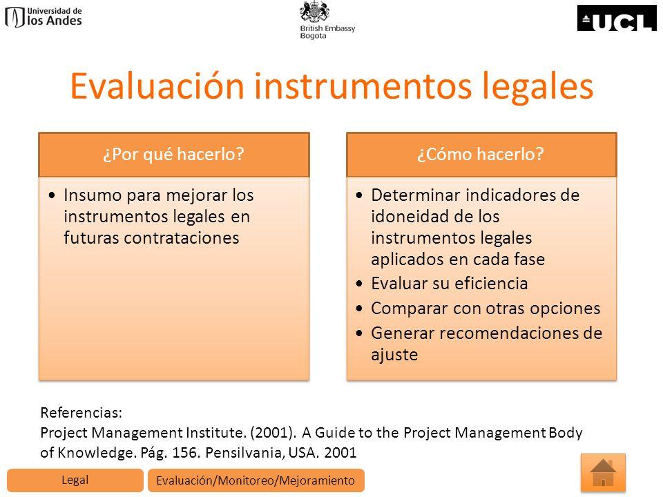 Evaluación instrumentos legales