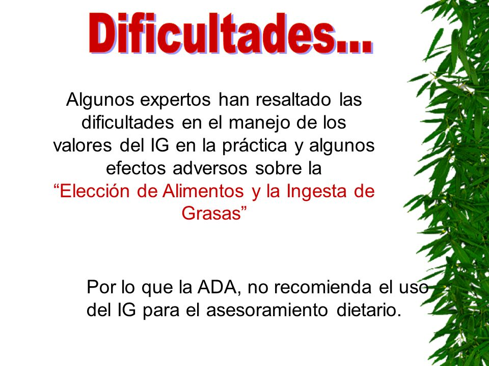 Dificultades...