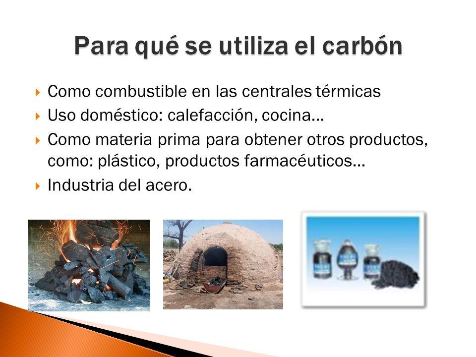 Para qué se utiliza el carbón