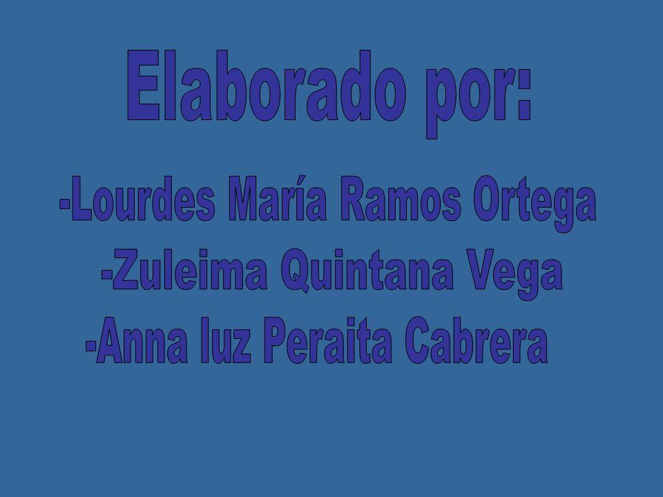Elaborado por: -Lourdes María Ramos Ortega -Zuleima Quintana Vega