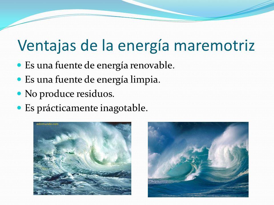 Ventajas de la energía maremotriz
