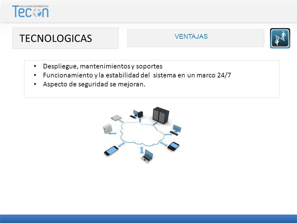 TECNOLOGICAS Despliegue, mantenimientos y soportes