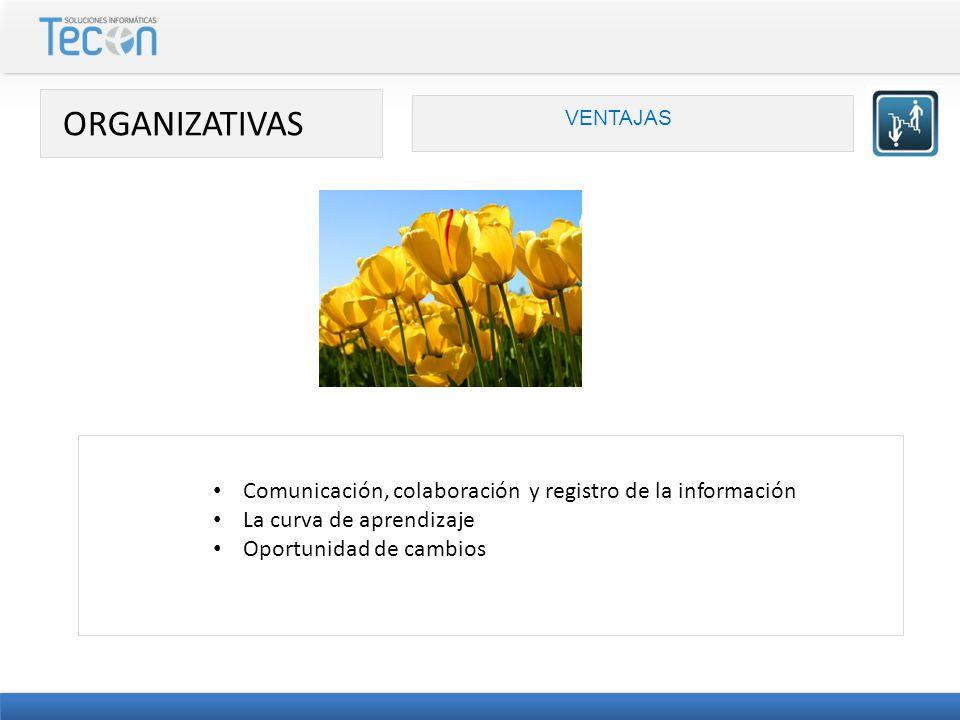 ORGANIZATIVAS Comunicación, colaboración y registro de la información