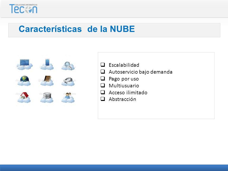Características de la NUBE