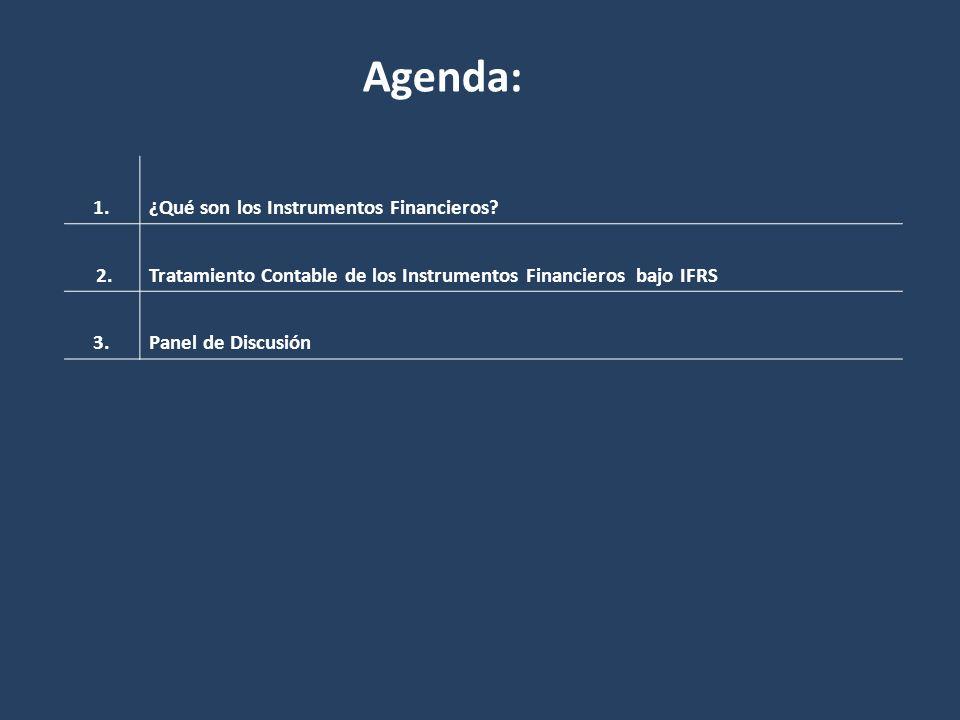 Agenda: 1. ¿Qué son los Instrumentos Financieros 2.