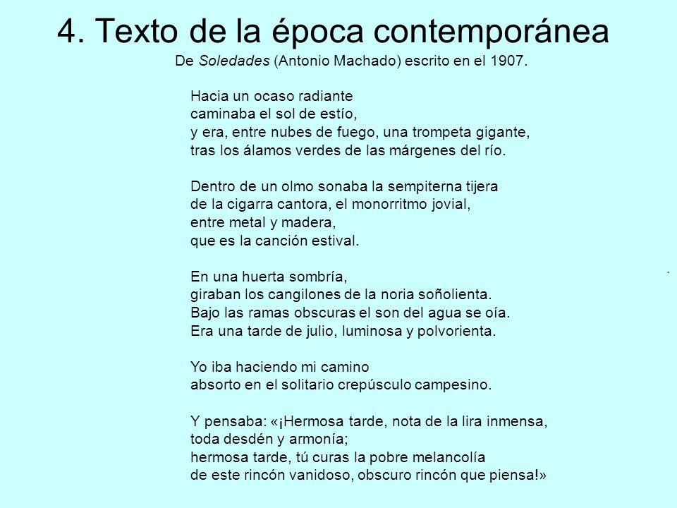 4. Texto de la época contemporánea