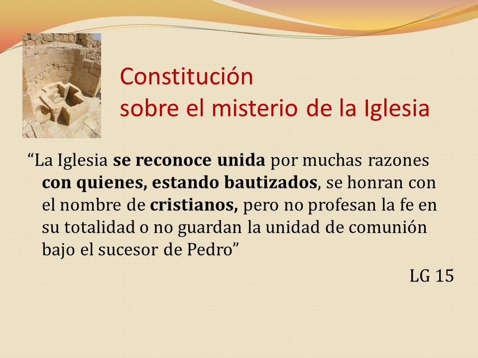 Constitución sobre el misterio de la Iglesia