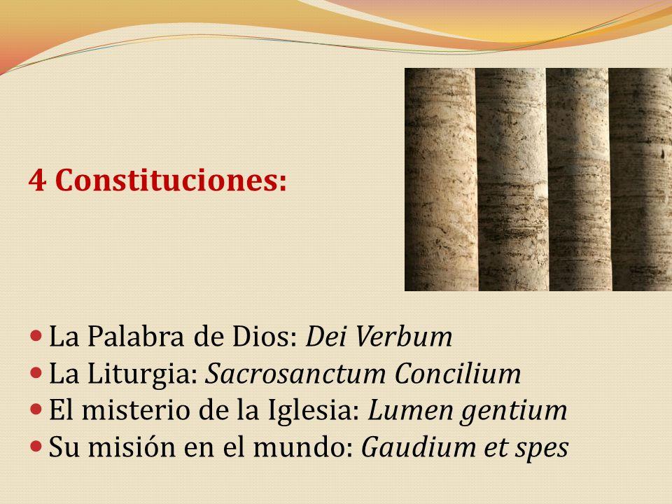 4 Constituciones: La Palabra de Dios: Dei Verbum